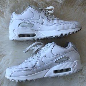 Nike Air Max 90 All White Mens 8.5